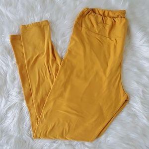 Lularoe TC mustard yellow solid legging tall curvy